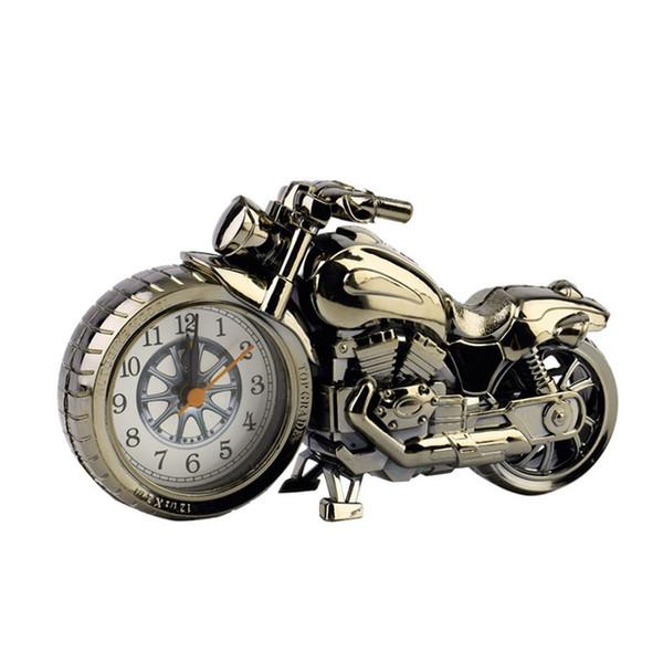 Moto Réveil À Quartz Horloges Créatif Montre De Poche Alliage Cas Vintage Décoration Horloges Articles Ménagers Bijoux Hommes