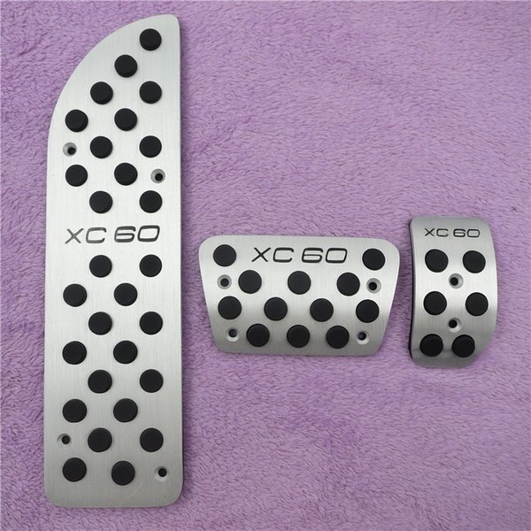 Aluminium Car Accessories For VOLVO XC60 AT Accelerator Brake Foot Rest Pedal Stickers, Gas Fuel Sport Cover Pads