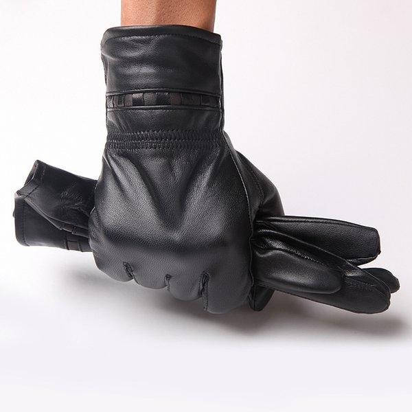 2018 Männliche Echte Lederhandschuhe Erwachsene Touched Screen Handschuh Mann Gym Luvas Auto Fahren Handschuhe Warme Leder herren Handschuhe B-5968