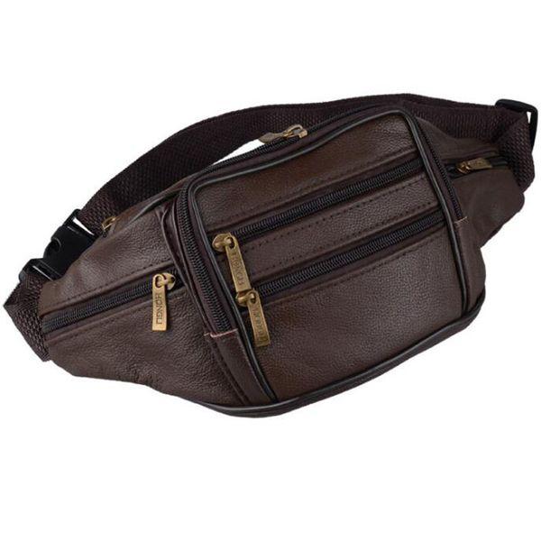 72f76a6e71e Original Brand Leather Sheepskin Bag Casual Women Men Waist Packbag Belt  bags Purse Mobile Phone Case