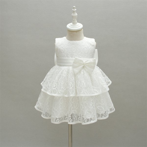 2018 Baby Girl Christening Baptism Gowns Toddler Princess Wedding ...