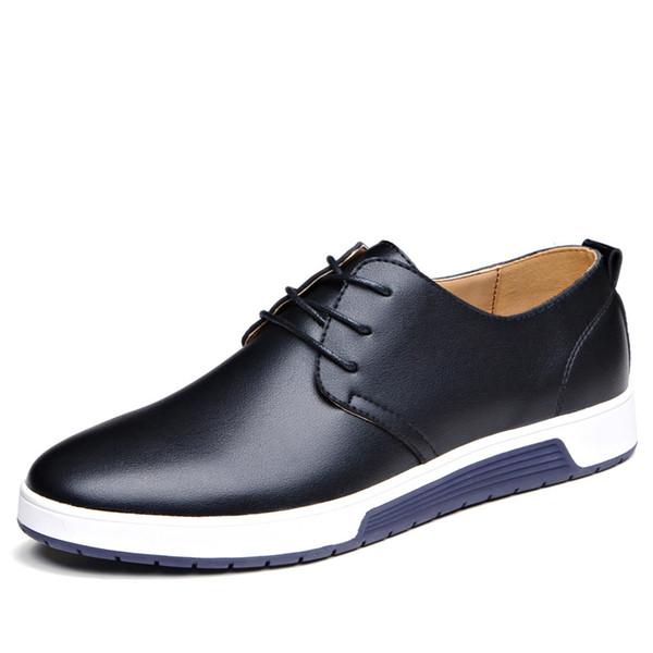 Chaussures de luxe pour hommes d'affaires Chaussures pour hommes Chaussures respirant Tip Derby 2018 jeunes hommes coréens Black Men Casual Shoes