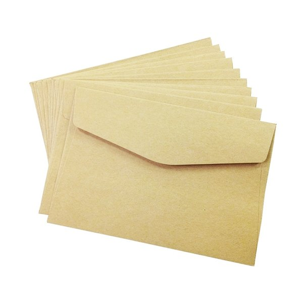 100PCS/lot simple Kraft paper envelope 160*110mm gift wedding envelopes Window card envelope