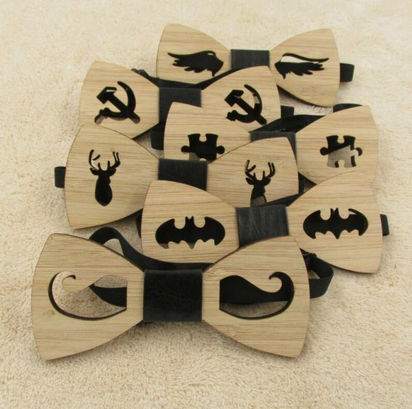 7a19f93e1177 2018 Men Handmade Wedding Party Hollow Carved Bamboo Wood Bowtie Classic  Necktie Butterfly New Wooden Bow