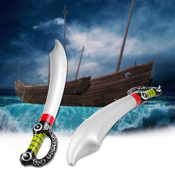 Baby Toys Inflatable Pirate Sword Shape Cosplay Anime Props Stage Supplies Garden Yard Outdoor For Boys Children Gifts