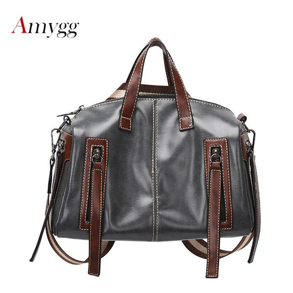 Женщины ТОП-Ручка сумки высокое качество искусственная кожа Женщины сумки посыльного двойной молнии большой емкости плеча для женщин сумки