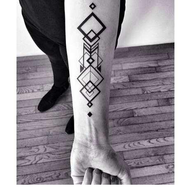 Autoadesivo del tatuaggio temporaneo impermeabile grande quadrato del tatuaggio del totem del rombo autoadesivi di tatto della fiamma flash tatuaggi falsi di tatoo per gli uomini