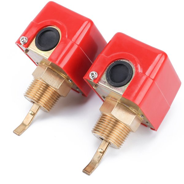 "2pcs/set Flow sensors 1"" 220VAC 3A Water/Paddle Male Thread Flow Paddle Water Pump Flow Switch HFS-25 High Quality"