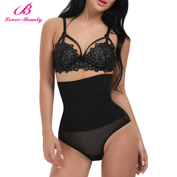 Lover Beauty Plus Size Women's Butt Lifter Shaper Seamless Tummy Control Hi-Waist Thigh Slimmer Butt Lifter Control Panties-C