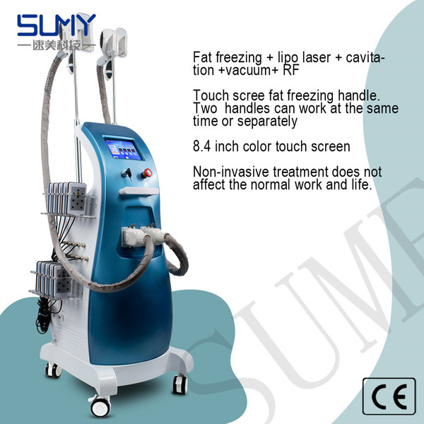 2018 HOT SALL Fat freezing machine weight loss slimming machine with 4 treatment handles and 10 pads laser