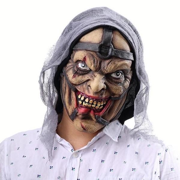 Halloween horreur Pourri Visage Latex Fantôme Masque Cosplay Props Dress Up Head Cover Bar Festival Ambiance Dress Up En Gros
