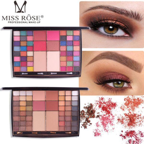 MISS ROSE Professionale Marca Multi-funzionale Shimmer Matte Eyeshadow Palette Powder Blush Set di trucco ombretto con Brush Kit