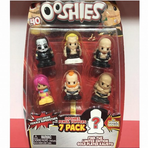 New 7Pcs/Pack With One Blind Ooshies Ooshie Pencil Toppers DC Comics/Marvel Action Figure Collection Kids Toy Doll Promotion Xmas Gift