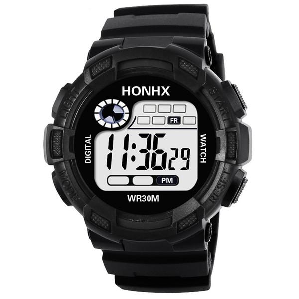 Men's Clock Sport Digital LED Waterproof Wrist Watch Luxury Men Analog Digital  Army Stylish Mens Electronic watch Clock