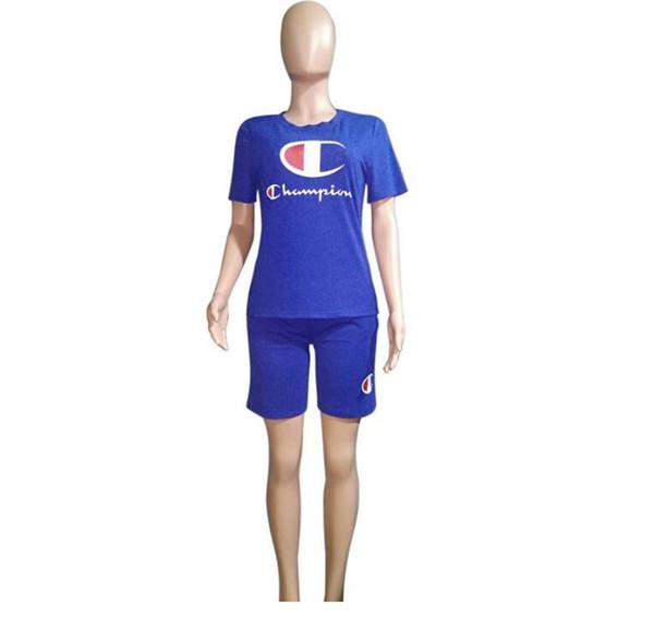 women Pink Short Sleeve T shirt Tees Shorts Short Pants Sets Sportswear Tracksuits Jogger Outfits Outwear Clothing hot BBA11