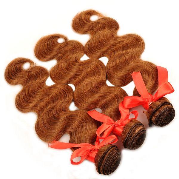 Body Wave Bundles 10-26 Inch Blonde 30 Human Hair Weave Extensions 3 Pcs shining star Non Remy Cheap Hair