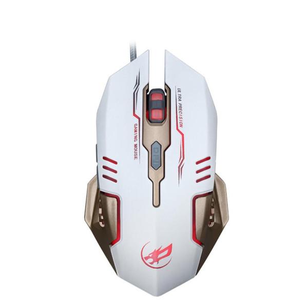 erweiterte optische Tracking-Technologie 7 Farben LED 3200 DPI 6 Tasten Wired Macro Definition Programmierung Gaming Maus Mäuse