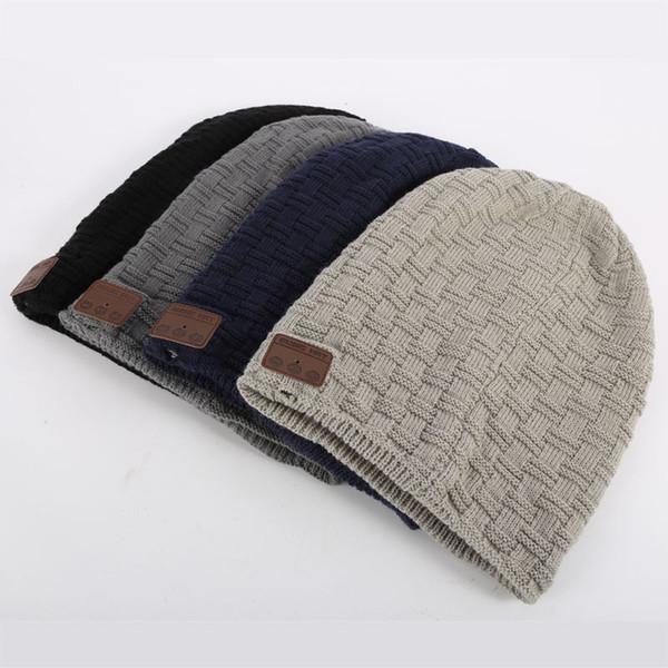 Macio inverno quente chapéu sem fio bluetooth fone de ouvido fone de ouvido inteligente cap speaker microfone bluetooth chapéu