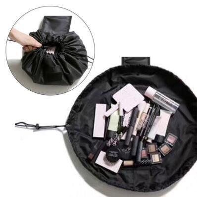 4 Colors Lazy Drawstring Cosmetic Bag Large Capacity Travel Portable Lazy Cosmetic Bags Cartoon Make Up Pouch CCA8954 100pcs