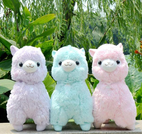45 cm Japonês Alpacasso lama Gigante divertir Alpaca De Pelúcia Macia Boneca Animal De Pelúcia Brinquedo Para Meninas Crianças Amante Melhor Presente de Natal
