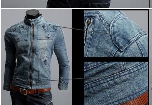 Homme Denim Vestes Survêtement Drapeau Américain Mâle Do Old Blue Moto Jeans Veste Manteau Homme Mode Jeans Slim Denim livraison gratuite
