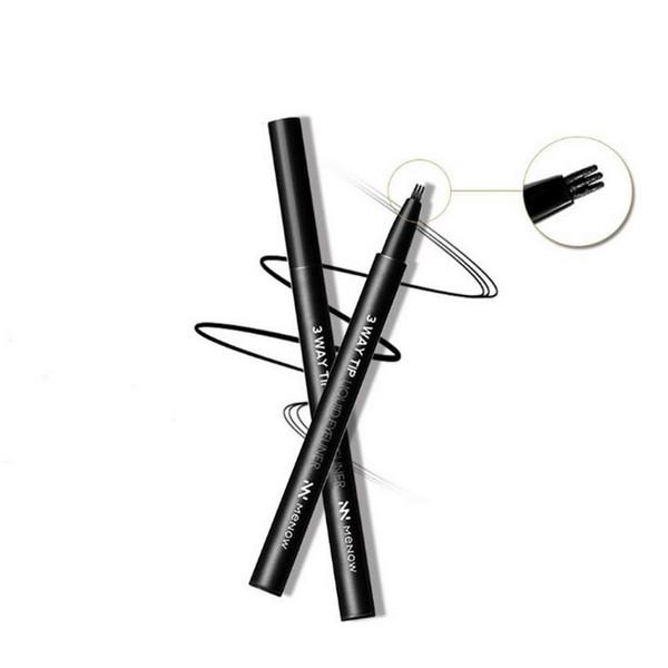 Black Liquid Eye Liner Makeup Eyeliner Waterproof Easywear 3 Way Tip Long Lasting Eyeliner Pencil Beauty Tool Cosmetics