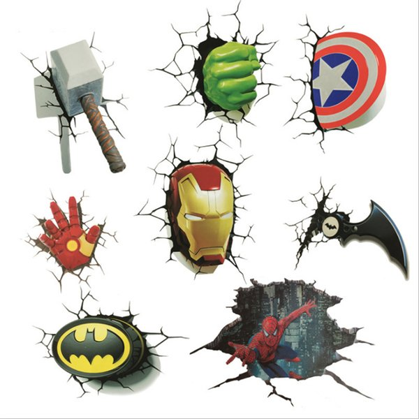 7 species Revenge Alliance cartoon funny car stickers car scratch repair decoration decals creative body stickers