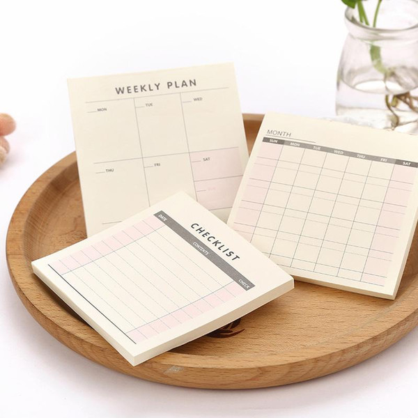 Cute Kawaii Weekly Monthly Work Planner Book Diary Agenda Filofax Dokibook For Kids School Supplies Free Shipping 348