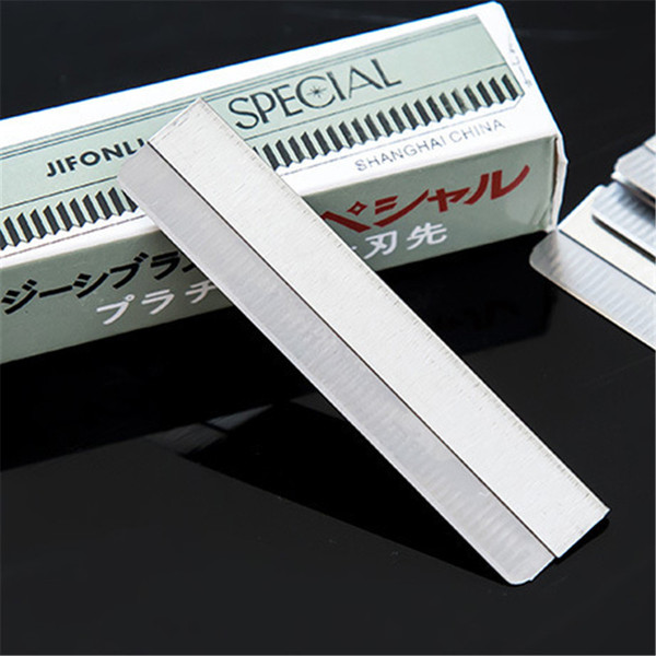 Wholesale makeup artist special scraping eyebrow eyebrow blade stainless steel shaving knife sharp blade 10 pieces/box