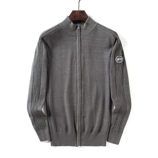 Canadá diseñador para hombre suéter con cremallera mantener caliente camisa de lana blusa casual primavera otoño alta calidad marca suéter