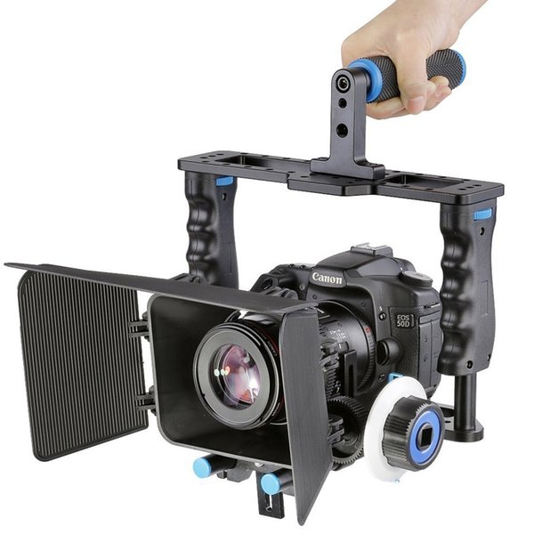 YELANGU Professionelle Aluminiumlegierung Schutz DSLR Kamera Käfig Stabilisator Metall Top Griff Matte Box Folgen Fokus DSLR Kamera