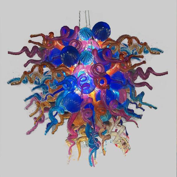 Turca del estilo del arte de la decoración decoración del hogar luminaria 100% soplado de Murano lámpara de cristal de luz Modern LED lámparas pendientes de Mano