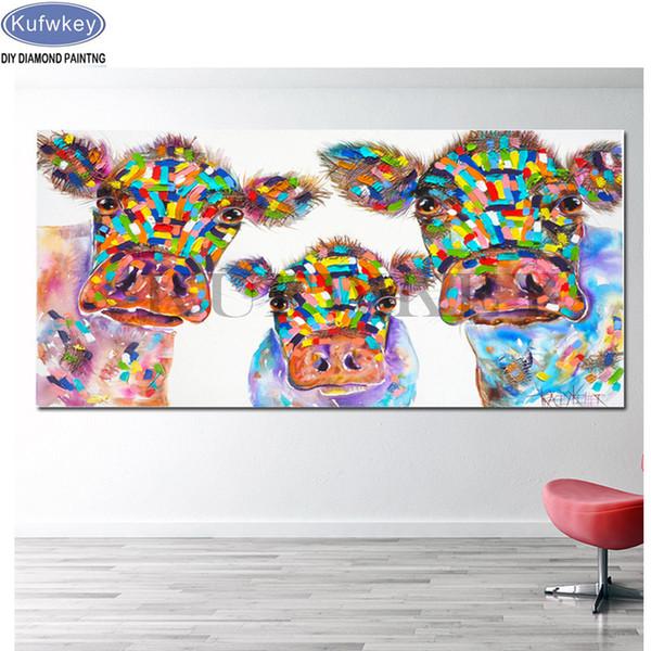 5D Diy Алмаз живопись акварель корова картина полный дрель бисер Алмаз вышивка Алмаз мозаика вышивки крестом украшения дома