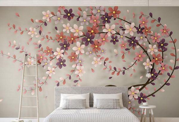 Großhandel Die Neue 2018 Anpassen 3d Mural Tapete Baum Blumen Papel De  Parede Fototapete Wohnzimmer Schlafzimmer Von Yeyueman6666, $62.32 Auf ...