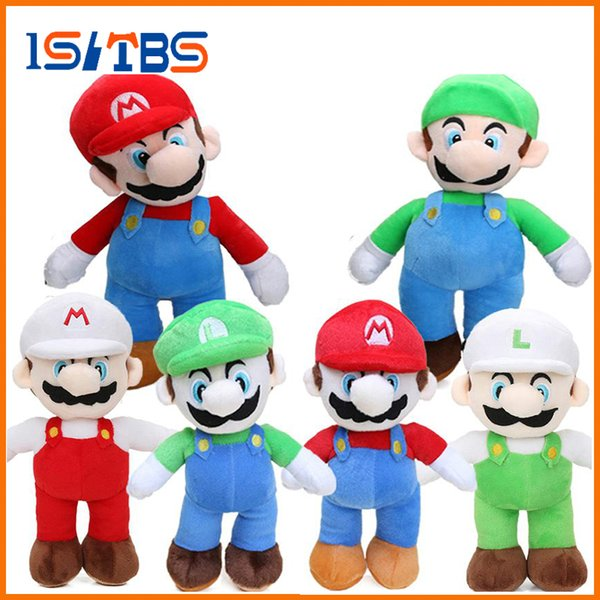 6styles Game 25cm Super Mario Bros Luigi Yoshi Soft Plush Toys Cosplay Figure Runing Yoshi Animal Dolls Toys Peluches bebe