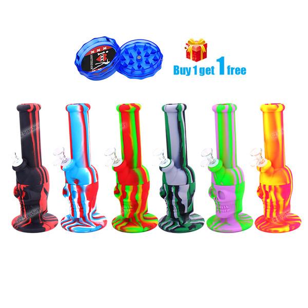 11.8 'silicone Bongs Crâne Conception Pipe À Eau En Silicone FDA fumer pipes tabac pipe à eau en verre bong silicone narguilé DHL gratuit