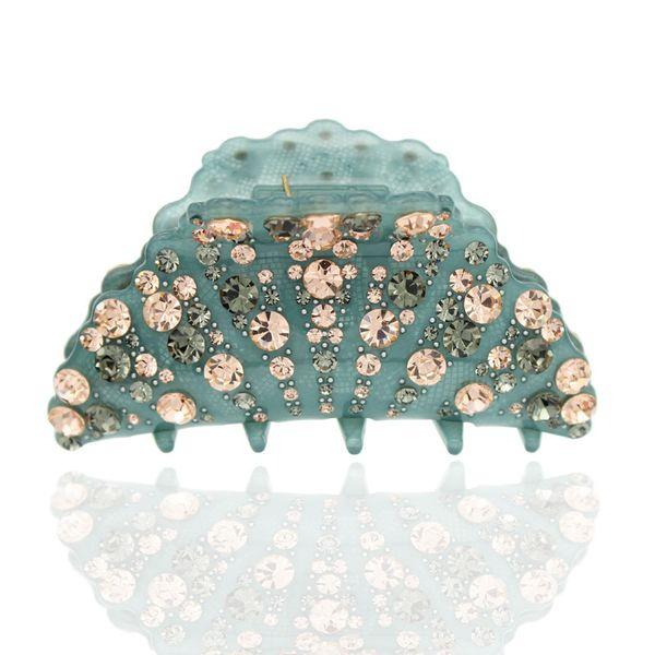 Women Lady Big Large Acrylic Plastic Rhinestone Wedding Bridal Dance Party Crab Jaw Hair Claw Clip Accessories Jewelry Ornament S919