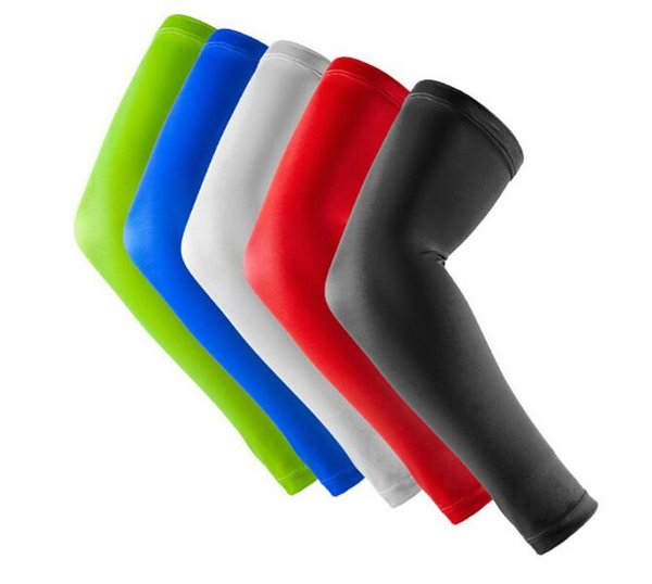 Outdoor 10pcs Anti-collision Lengthen Arm Sleeve Arm Guard Sports Elbow Warmers Pad Brace long running sunscreen cool sports