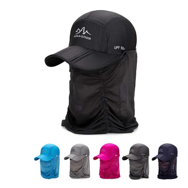 Sport Visor Outdoor Hat Men Women Sun Visor UV Cap Outdoor Windproof Hats Quick Dry 2018 Sunshade UV Protection Wateproof Caps