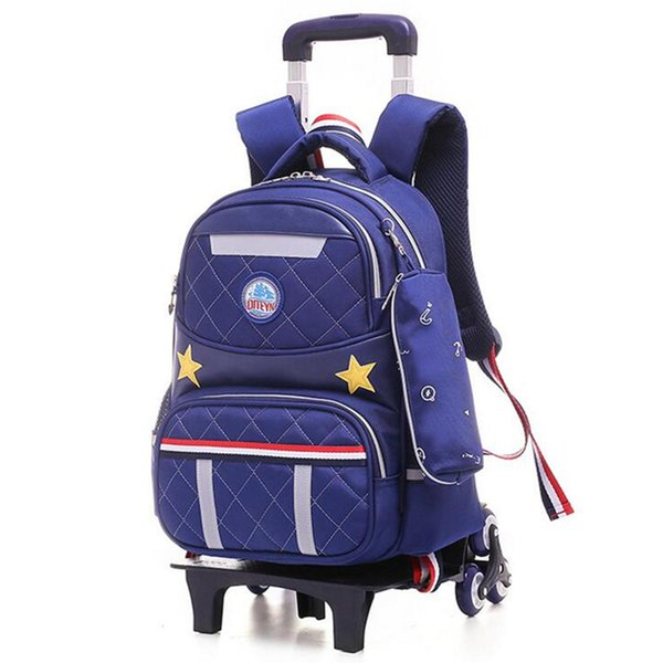 New Fashion Men 20L Kids Girls Boys Children Wheels Trolley Backpack School Travel Luggage Book Bag