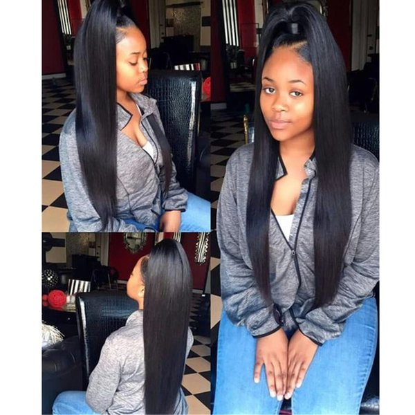 Malaysian Virgin Hair Straight 360 Lace Frontal Closure With Baby Hair Remy Human Hair Free Part Natural Color Top 360 Lace Frontal Closure