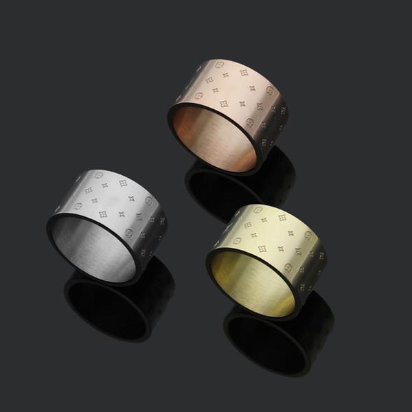 Luxus-Punk-Liebhaber-Band-Ring-Art- und Weisemarken-18K des Gold2018 Edelstahl-Gold oder Gold und Platin überzogen