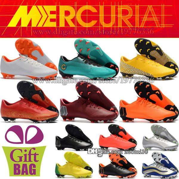 ad48095e Barato Nuevo CR7 Superfly Niños Zapatos de fútbol Mercurial Vapor XII Pro  FG Mujeres Botas de