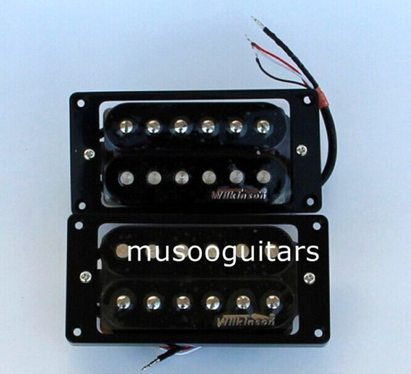 NEU Wilkinson Humbucker Gitarren Pickup Set - WHHB (Halsbrücke) Alnico 5 Magnet Kupfer-Nickel Base