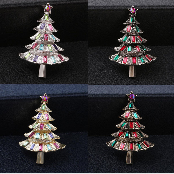 Christmas Birthday Images.2018 Casual Bohemian Crystal Rhinestone Star Christmas Tree Brooches Pins For Women Broche Sweater Accessories Christmas Birthday Gift From Htlove
