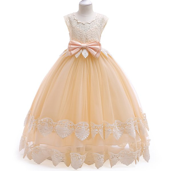 Lace baby toddler flower dress girl for wedding party first communion dress girl formal dress 3-12 year children tutu clothing