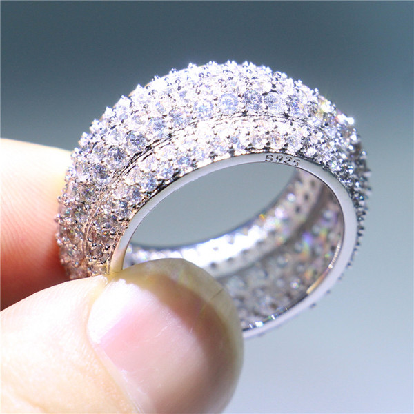 2019 Luxury Women Handmade Wedding Jewelry White Gold Filled