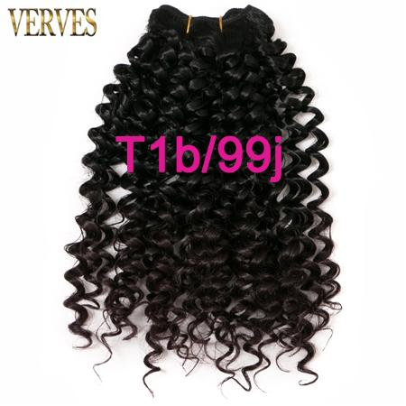 VERVES 1 pack hair synthetic weaving 65g/pack curly Braid kanekalon ombre braiding hair weft extensions blonde,brown