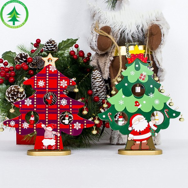 Diy Christmas Ornaments As Gifts.Diy Christmas Ornament Wooden Christmas Tree Christmas Hanging Ornament Gift For Children Home Xmas Table Decoration Discount Christmas Decorations
