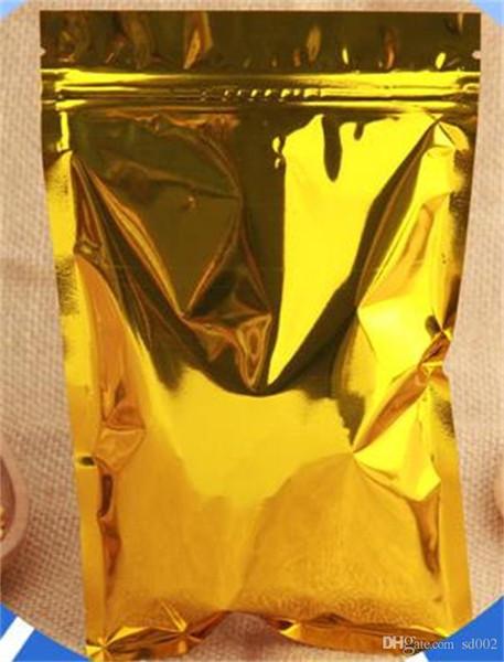 Foglio di alluminio Placcatura Sacco di imballaggio Alimentare Bony Self Sealing Sacchi in polvere Storage Storage Golden Portable Small 33oy6 cc